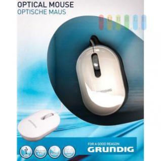 Optische Maus von Grundig geeignet für Windows und Mac, 3 Tasten, 800 DPI, weiß
