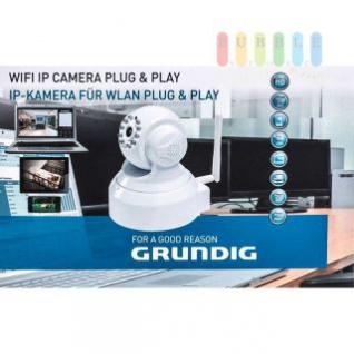 WIFI IP-Kamera Grundig für Wlan Plug & Play, HD, Smartphone/Tablett/PC-Steuerung, Nachtfunktion, inklusive MicroSD-Karte
