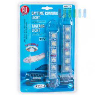 LED-Tagfahrlicht ALL Ride weiß, flexibel, 2 x 6 LED, 12V