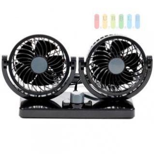 Ventilator Doppellüfter ALL Ride, vertikal und horizontal einstellbar, Leistung 8W/15W, 12V