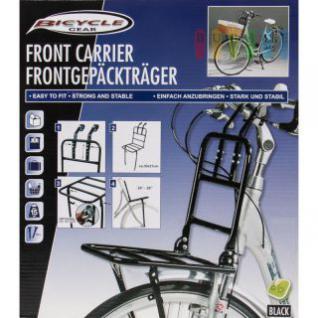 Frontgepäckträger aus Stahl, belastbar bis 15 kg, lieferbar in den Farben Schwarz oder Weiß