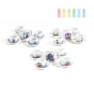 Puppen-Tee-Service © Disney PIXAR und © Disney, Keramik, Teekanne, Tassen, Teller, 10-teilig, lieferbar sind die Motive Minnie, Frozen und Findet Dorie