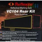 Markierungsband-Kit rot, reflektierend, selbstklebend zur Anbringung auf Festaufbauten, 12, 5 x 0, 05 m