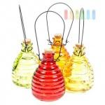 Insektenfalle/Wespenfalle zum Hängen oder Stellen aus Glas, giftfrei, wieder verwendbar, 13 cm, lieferbar in den Farben Rot, Gelb, Grün oder Orange