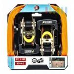 Spanngurte-Set von ALL Ride, 2 Zurrgurte mit Ratsche, 2teilige Ausführung, TÜV/GS geprüft, Belastung max. 400 kg, Länge ca. 5 m