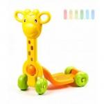 Kinder-Roller mit 4 Räder von Let´ s Play mit Griffen, Design Giraffe, ab 18 Monate, Größe ca. 50 x 20 x 62 cm