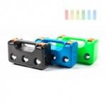 Kugel-Sport-Set (Petanque / Boule) mit 3 Spielkugeln, Zielkugel, Abstandsmesser und Koffer, lieferbar in den Farben Schwarz, Blau oder Grün