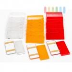 Reflektoren-Set 10 Stück ALL Ride sebstklebend, eckig, 9, 5 x 4, 5 cm, lieferbar in den Farben Gelb, Rot oder Weiß