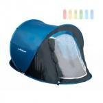 Wurfzelt / Popup-Zelt von Dunlop für 1 Personen, einwandig, selbstaufbauend, Moskitoschutz, Wassersäule 400 mm, blau