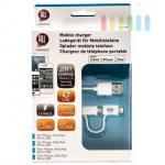 Ladekabel ALL Ride mit Mikro-USB und Lightning-Anschluss für iPod, iPhone 5/6, iPad , weiß, ca. 100 cm