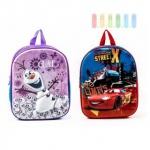 Kinderrucksack von Disney, 3D-Front, Stoßkanten aus Kunststoff, 1 Fach, Höhe 30 cm, Design © Disney Frozen oder © Disney PIXAR Cars