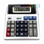 Tischrechner von Grundig mit Doppeldisplay, kundenfreundlich, kaufm. Sonderfuntionen, 12 stellige Anzeige, inklusive Batterie