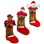 Weihnachts-Stiefel/Nikolaus-Socke zum Befüllen aus Filz im klassischen Design als Weihnachtsmann/Nikolaus, Schneemann oder Rentier