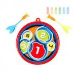 Dart-Spiel-Set 3-teilig für Kinder, Pfeile mit Saugnapf, 2 Pfeile, 1 Scheibe, Größe ca. 30 cm