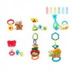 Baby-Spiel-Set von Let´ s Play, 2-teilig, Rasseln, Beißringe und Greifspielzeug Frühförderung, Beschäftigung, erstes Spielen