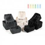 Ablage-/ Regalkörbe 3er-Set von Alpina aus geflochtenem Kunststoff, softe Verarbeitung, robust, lieferbar in den Farben Grau, Weiß oder Schwarz