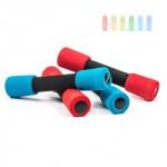 Hanteln mit Soft-Grip als Paar je 0, 5 kg, 21 x 4 cm, lieferbar in den Farben Blau oder Rot