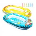 Schlauchboot von Bestway mit Griffen, Zugseil und Reparaturflicken, Boden aufblasbar, Länge ca. 137 cm, lieferbar in den Farben Blau oder Gelb