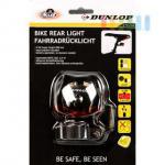 Fahrrad-Rücklicht von Dunlop, 3 rote LEDs, 2 Funktionen, werkzeuglose Montage, batteriebetrieben