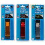 Seitenbegrenzungsleuchte ALL Ride 3 LEDs mit Reflektor, lieferbar in den Farben Gelb/Orange, Rot oder Weiß, eckig, 13 x 3 cm, 9-32V