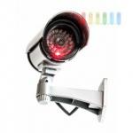 Überwachungskamera-Attrappe, kabellos, batteriebetrieben, 1 LED rot und blinkend, Länge ca. 18 cm