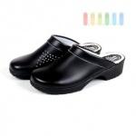 Schwedenclogs Leder, schwarz, rutschfeste Profil-Gummisohle, lieferbar in den Größen 40-48