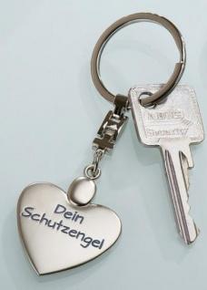 GILDE Schlüsselanhänger Herz aus Metall, Mein Schutzengel, 3, 5x10 cm