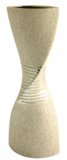 GILDE Vase Sanduhr aus der Champagner Keramik Serie, 43 cm
