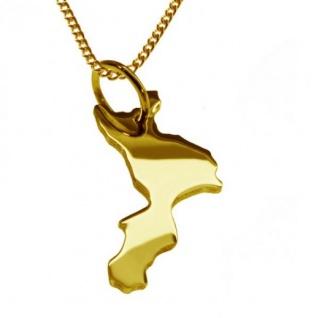 KALABRIEN Kettenanhänger aus massiv 585 Gelbgold mit Halskette
