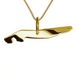 NORDERNEY Kettenanhänger aus massiv 585 Gelbgold mit Halskette