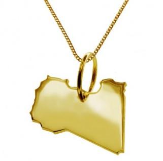 LIBYIEN Kettenanhänger aus massiv 585 Gelbgold mit Halskette