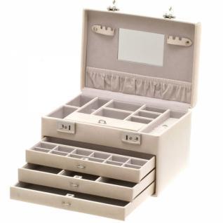 Davidt's Schmuckkoffer mit Spiegel, beige, mit 3 Schubladen
