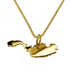 MALTA Kettenanhänger aus massiv 585 Gelbgold mit Halskette