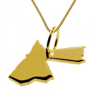 JORDANIEN Kettenanhänger aus massiv 585 Gelbgold mit Halskette