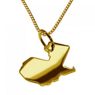 GUATEMALA Kettenanhänger aus massiv 585 Gelbgold mit Halskette