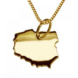 POLEN Kettenanhänger aus massiv 585 Gelbgold mit Halskette