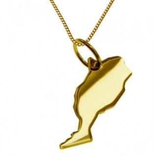 MAROKKO Kettenanhänger aus massiv 585 Gelbgold mit Halskette