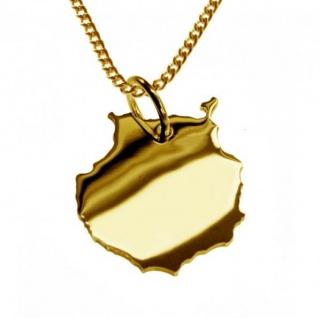 GRAN CANARIA Kettenanhänger aus massiv 585 Gelbgold mit Halskette