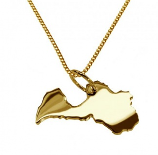 LETTLAND Kettenanhänger aus massiv 585 Gelbgold mit Halskette