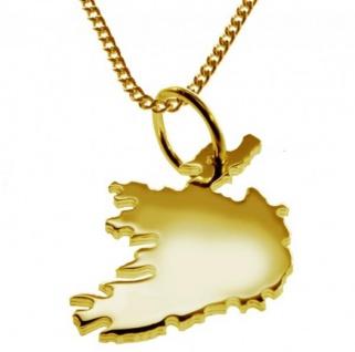 IRLAND Kettenanhänger aus massiv 585 Gelbgold mit Halskette