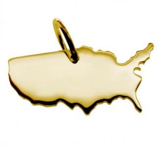 USA Kettenanhänger aus massiv 585 Gold