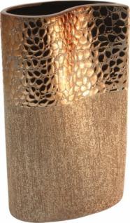 GILDE Tropfen-Vase in Style Gold aus Keramik, 30 cm
