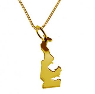 MONACO Kettenanhänger aus massiv 585 Gelbgold mit Halskette