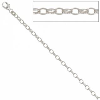 Ankerkette 925 Silber 3 mm 60 cm Halskette Kette Silberkette Karabiner