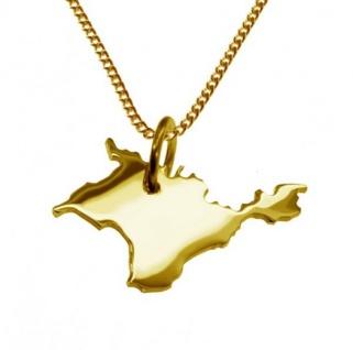 KRIM Kettenanhänger aus massiv 585 Gelbgold mit Halskette