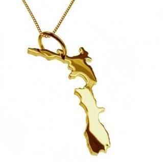 NEUSEELAND Kettenanhänger aus massiv 585 Gelbgold mit Halskette