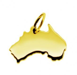 AUSTRALIEN Kettenanhänger aus massiv 585 Gelbgold