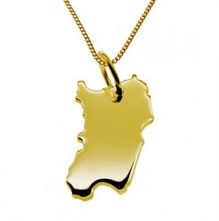 SARDINIEN Kettenanhänger aus massiv 585 Gelbgold mit Halskette