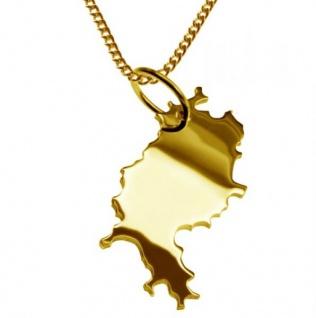HESSEN Kettenanhänger aus massiv 585 Gelbgold mit Halskette