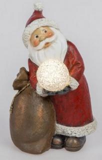 formano Weihnachtsmann mit LED Dekokugel, 20 cm